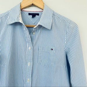 Tommy Hilfiger fitted button down shirt 💯 cotton